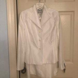 NWT COLLECTIONS FOR LESUIT 2 PIECE WHITE SUIT